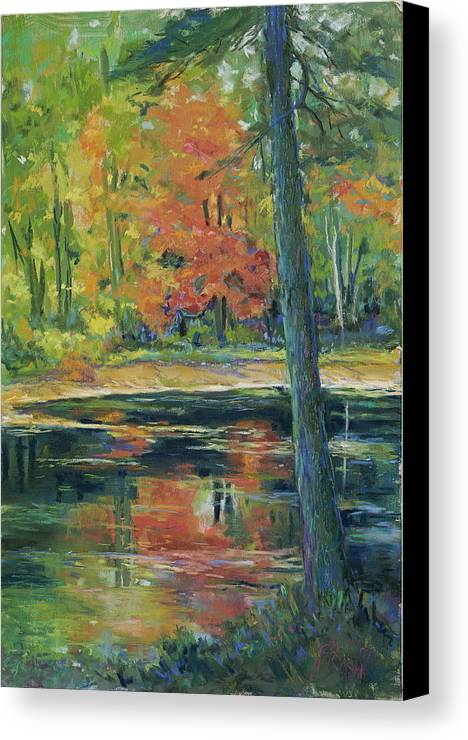 Fall Canvas Print featuring the painting East Coast Autumn by Billie Colson