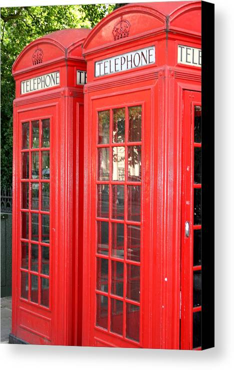 Phone Canvas Print featuring the photograph England's Calling by Sara Summers