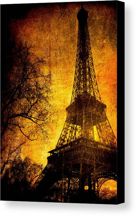 Eiffel Canvas Print featuring the photograph Esthetic Luster by Andrew Paranavitana
