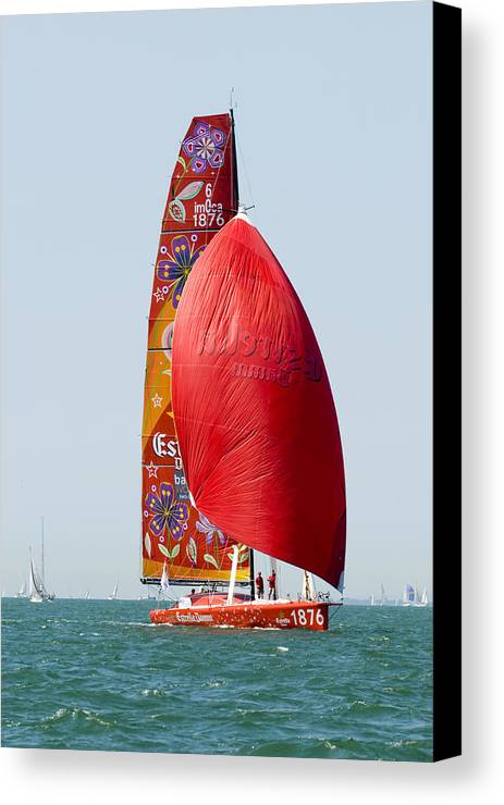 Yacht Canvas Print featuring the photograph Estrella Damm by Gerry Walden