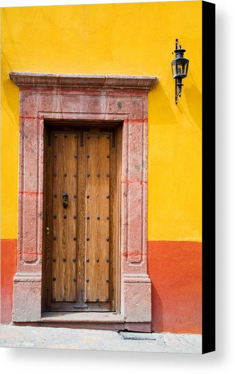 Access Canvas Print featuring the photograph Fancy Door by Eggers Photography