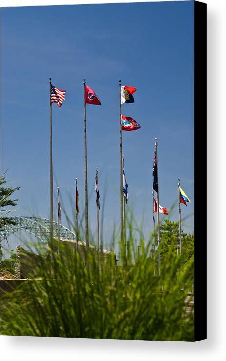 Flags Canvas Print featuring the photograph Flags Flags Flags by Douglas Barnett
