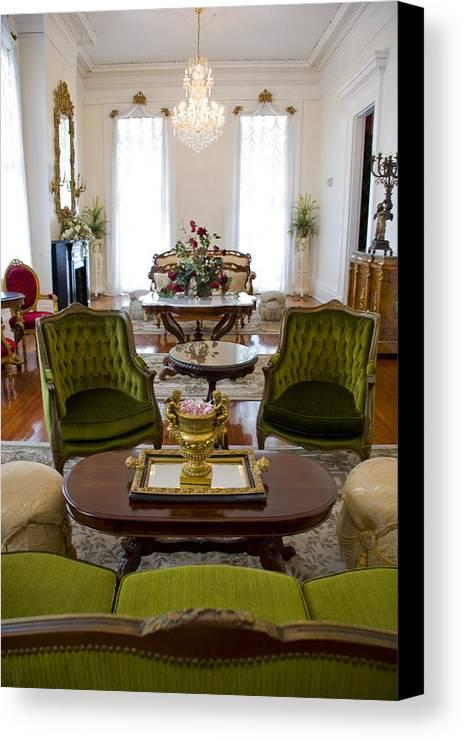 Mansion Canvas Print featuring the photograph Formal Dining Room by Jennifer Kelly