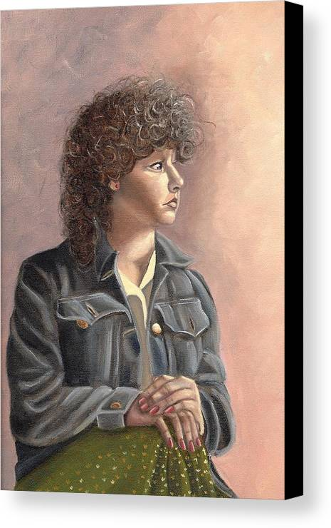 Canvas Print featuring the painting Grace by Toni Berry
