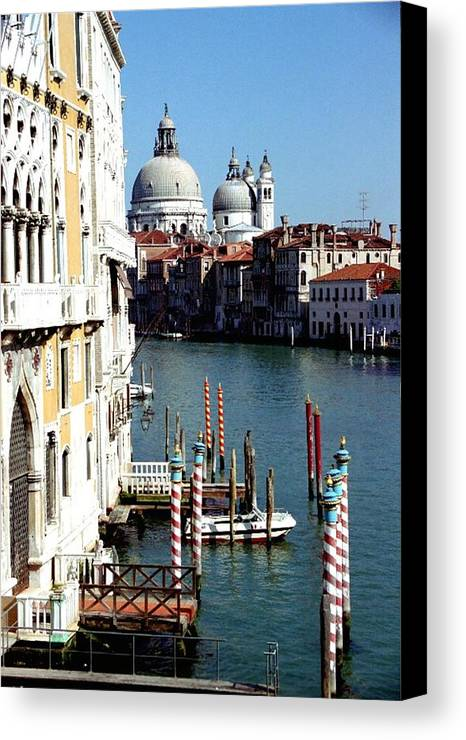 Venice Canvas Print featuring the photograph Grand Canal In Venice From Accademia Bridge by Michael Henderson