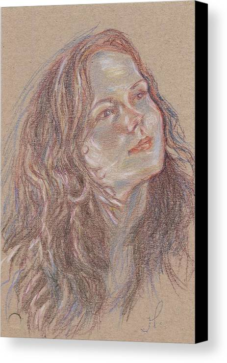 Portrait Canvas Print featuring the painting Great C Major by Horacio Prada