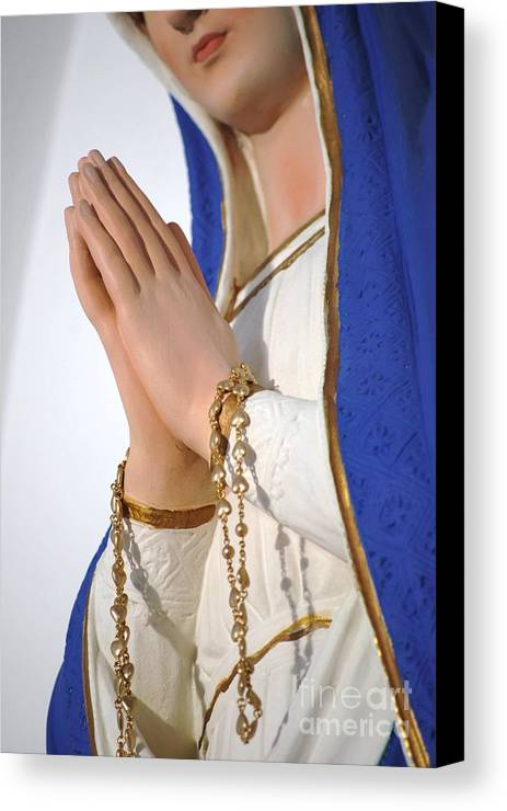 Mary Canvas Print featuring the photograph Hail Mary Full Of Grace by Michelle Hastings