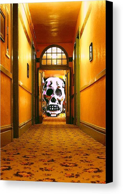Haunted Canvas Print featuring the photograph Haunted Hallway by Nelson Strong