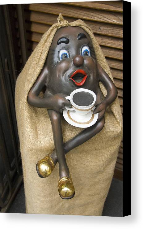 Statuette Canvas Print featuring the photograph Have A Cup by Charles Ridgway