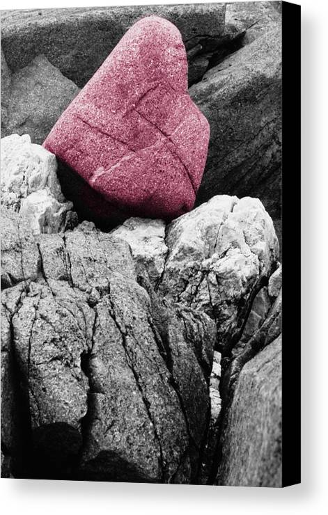 Rocks Canvas Print featuring the photograph Heartrock by Keith Campagna
