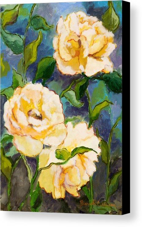 Roses Canvas Print featuring the painting Heaven On Earth Roses by Brenda Williams