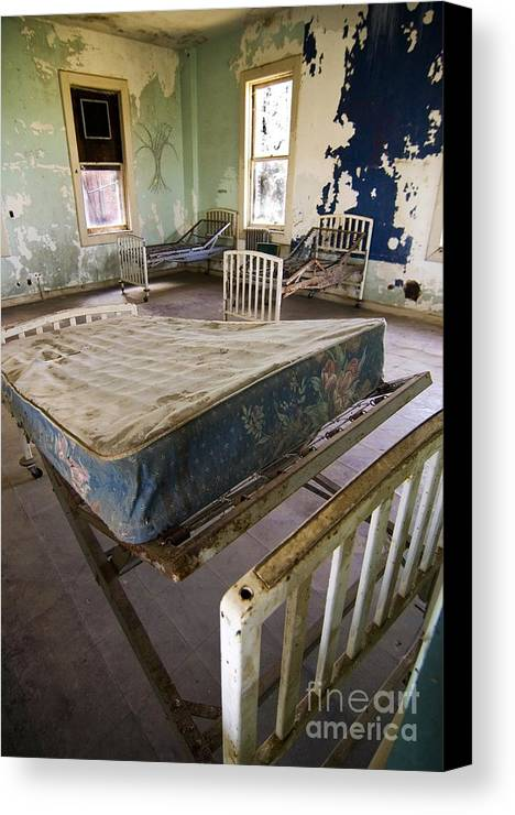 California History Canvas Print featuring the photograph Hospital Bed Preston Castle by Norman Andrus