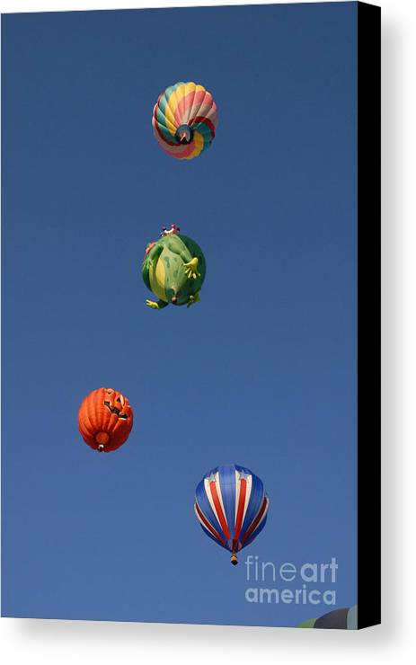 Hot Air Balloon Canvas Print featuring the photograph Hot Air Rally by Dennis Hammer