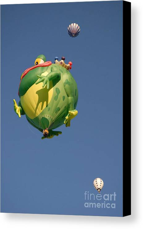 Hot Air Balloon Canvas Print featuring the photograph Hot Frog by Dennis Hammer