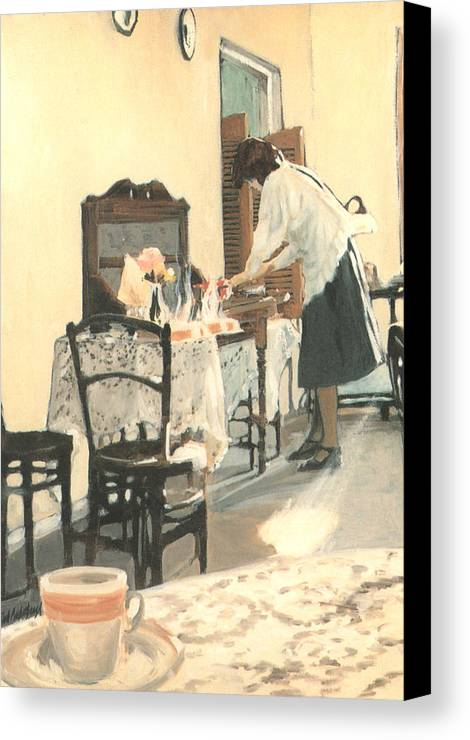 Painting Canvas Print featuring the painting Hot Scones For Tea by Linda Crockett