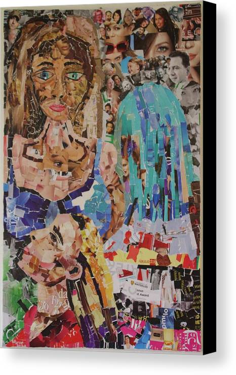 Humans Canvas Print featuring the mixed media Identity by Shonette Bynoe