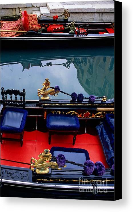 Venice Canvas Print featuring the photograph Inside Gondola In Venice by Michael Henderson