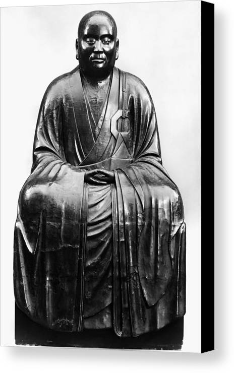 14th Century Canvas Print featuring the photograph Japan: Zen Priest by Granger