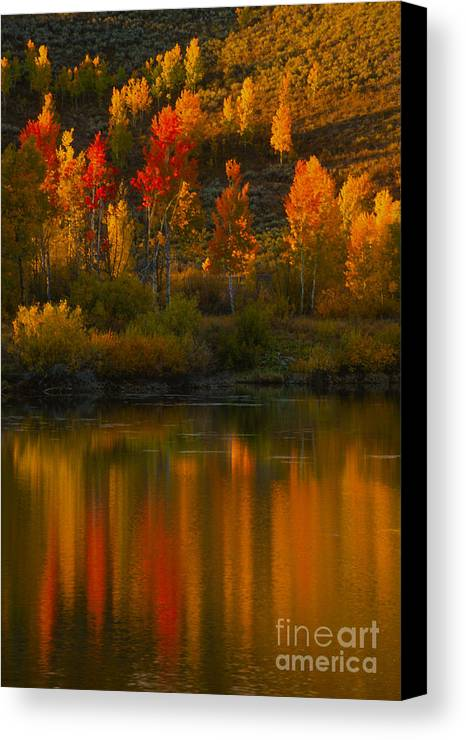 Grand Teton Canvas Print featuring the photograph Last Light At Oxbow Bend by Sandra Bronstein