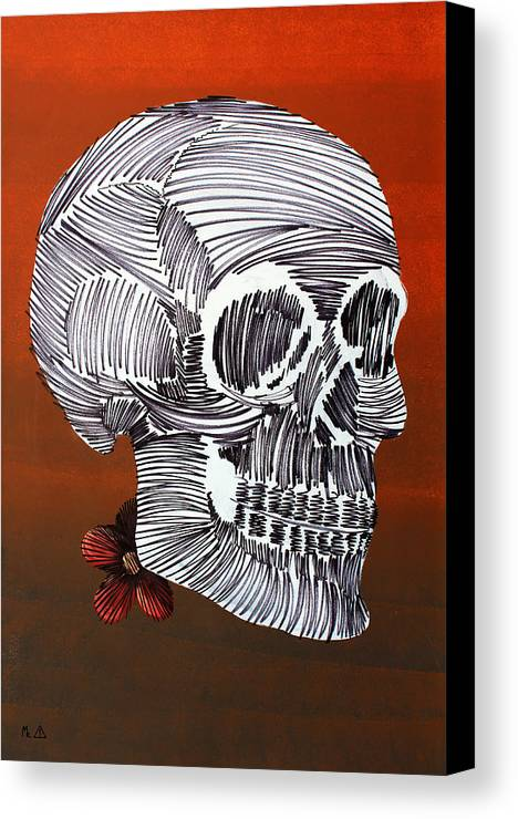 Skull Canvas Print featuring the painting Lib-377 by Artist Singh