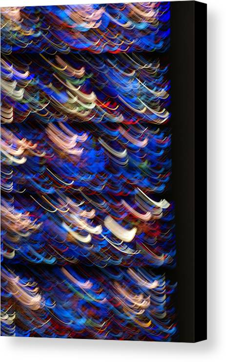 Stined-glass Canvas Print featuring the photograph Light In A Stained-glass by Helene Champaloux-Saraswati