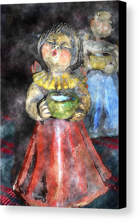 Angel Canvas Print featuring the digital art Little Christmas Angel-abstract by Patricia Motley