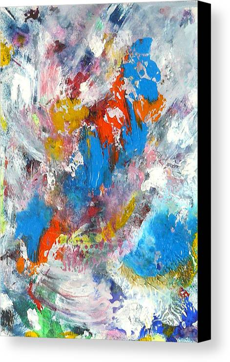 Abstract Canvas Print featuring the painting Monte Carlofireworks 2 by Greg Gierlowski