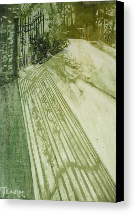 Green Canvas Print featuring the painting Morning Light by Elizabeth Carr