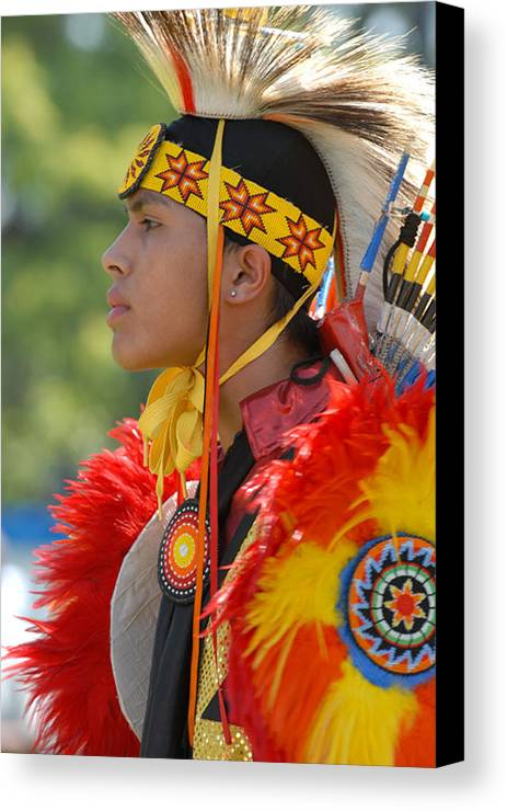 Indian Canvas Print featuring the photograph Native Indian by Dennis Hammer
