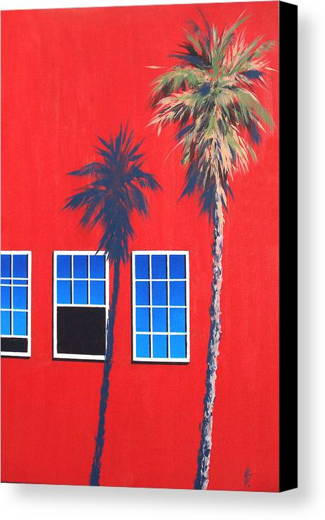 Palm Tree Canvas Print featuring the painting Newport Afternoon by Philip Fleischer