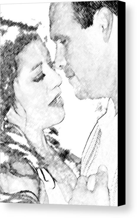 Nikki And Kris Canvas Print featuring the digital art Nikki And Kris Passion by James Granberry