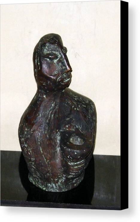 Male Torso Canvas Print featuring the sculpture No. 245 by Vijayan Kannampilly