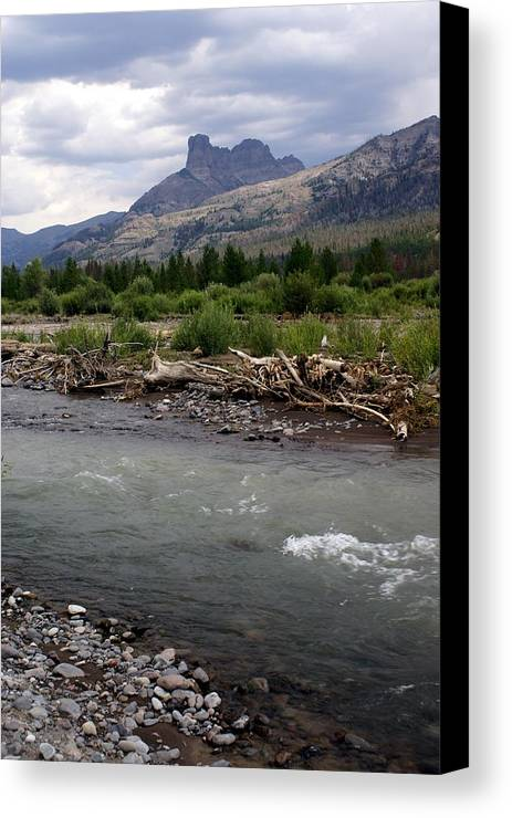 Rivers Canvas Print featuring the photograph North Of Dubois Wy by Marty Koch