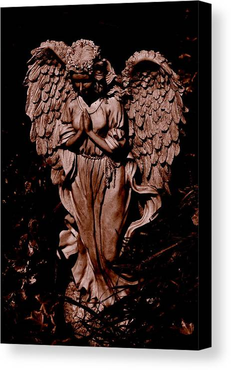 Angel Canvas Print featuring the photograph Now I Lay Me Down To Sleep by Trudi Southerland
