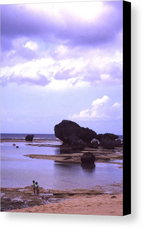 Okinawa Canvas Print featuring the photograph Okinawa Beach 20 by Curtis J Neeley Jr