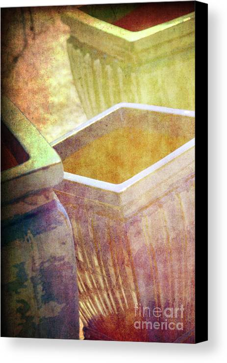 Pottery Canvas Print featuring the photograph Pastel Pottery by Susanne Van Hulst
