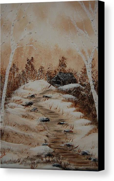 Acrylics Canvas Print featuring the painting Pathway To Freedom by Laurie Kidd