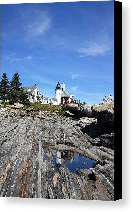 Lighthouse Canvas Print featuring the photograph Pemaquid Light by Becca Brann