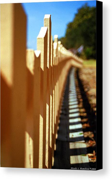 Fence Canvas Print featuring the photograph Picket Fence by Nicole I Hamilton