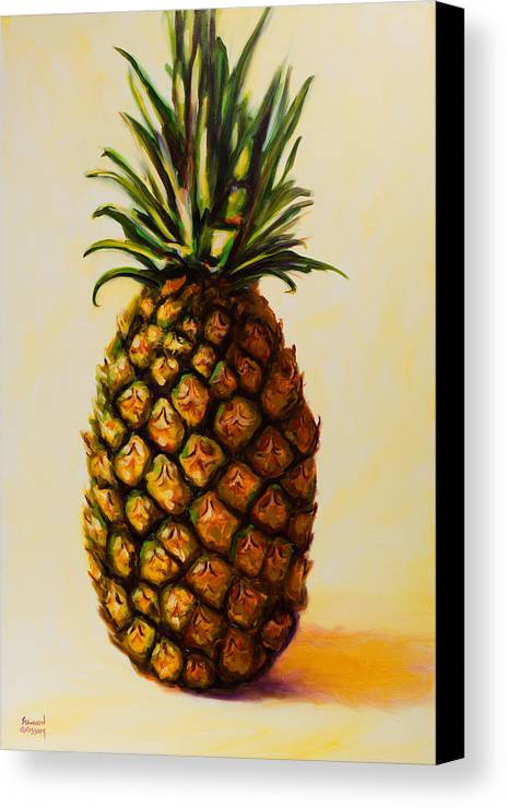 Pineapple Canvas Print featuring the painting Pineapple Angel by Shannon Grissom