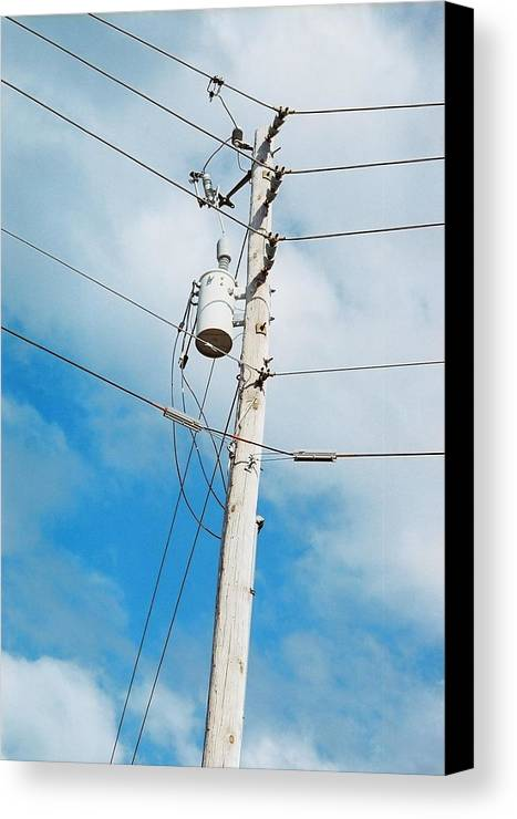 Power Line Canvas Print featuring the photograph Power Line Boogie Woogie by Jennifer Trone