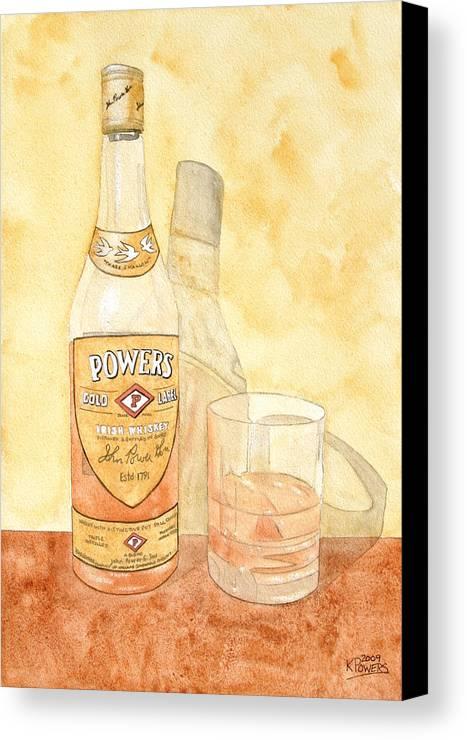 Irish Canvas Print featuring the painting Powers Irish Whiskey by Ken Powers