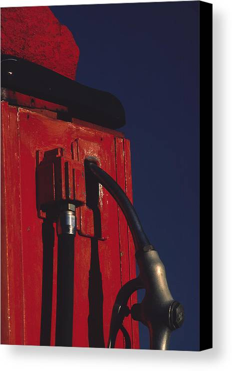 Gas Pump Canvas Print featuring the photograph Pump by Art Ferrier