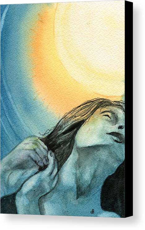 Watercolor Canvas Print featuring the painting Rapture by Brenda Owen