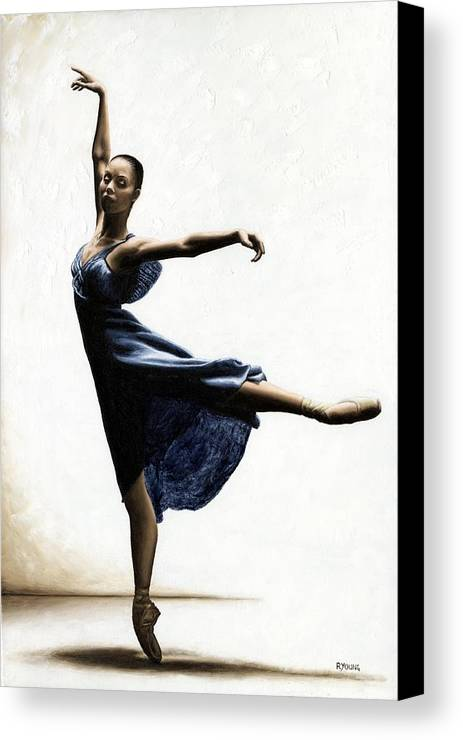 Dancer Canvas Print featuring the painting Refined Grace by Richard Young