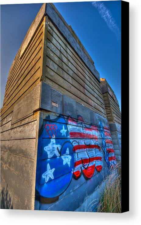 Montauk Canvas Print featuring the photograph Ruins Graffiti by Mike Horvath