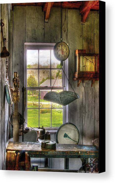 Savad Canvas Print featuring the photograph Scales - Scales by Mike Savad