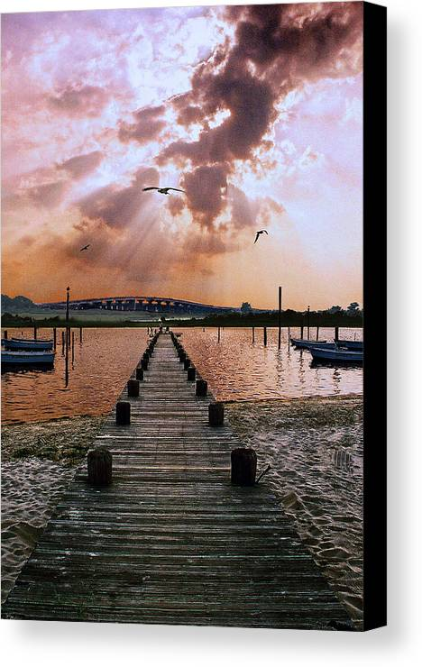 Seascape Canvas Print featuring the photograph Seaside by Steve Karol