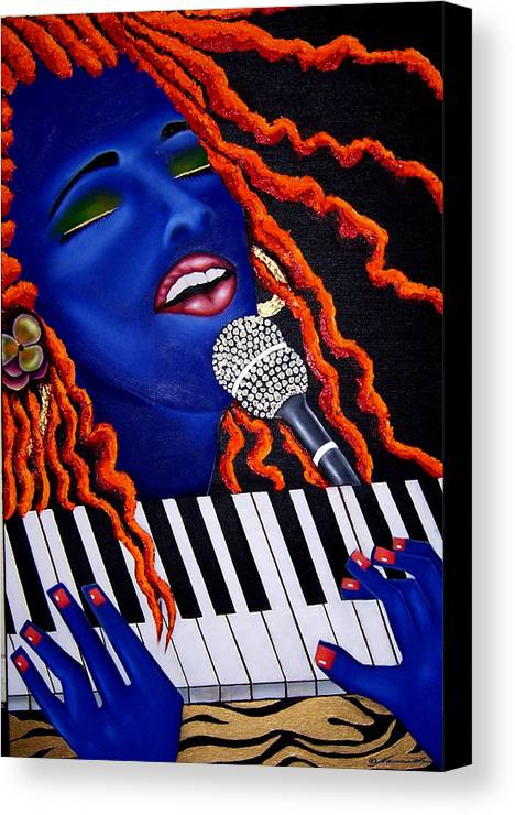Portrait Canvas Print featuring the painting She's Magic by Nannette Harris