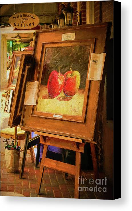Art Canvas Print featuring the photograph Sidewalk Gallery - Painted by Kathleen K Parker